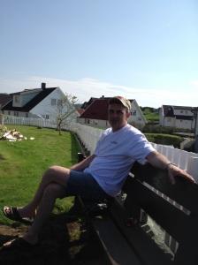 Svein Erik Indbjo. Naboen som alltid er først oppe.