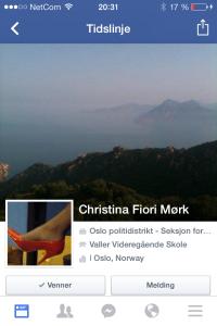 Bli venn med Christina Fiori Mørk ... isbader og singel